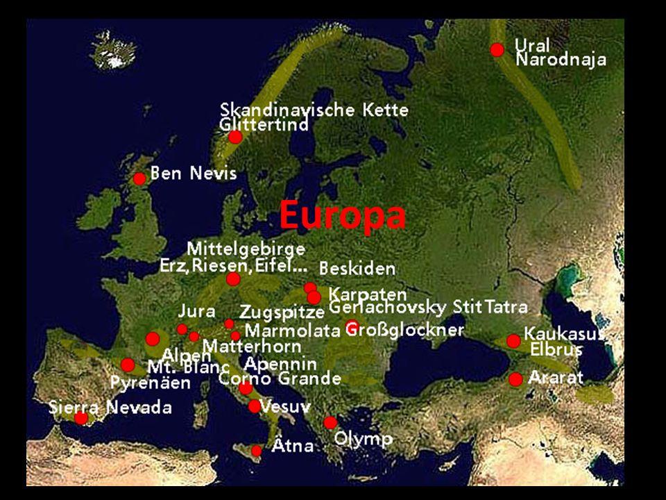 Gebirge und Berge unserer Erde Pasma górskie i góry naszej Ziemi Teil 1 Cz. 1 Europa, Asien Europa, Azja