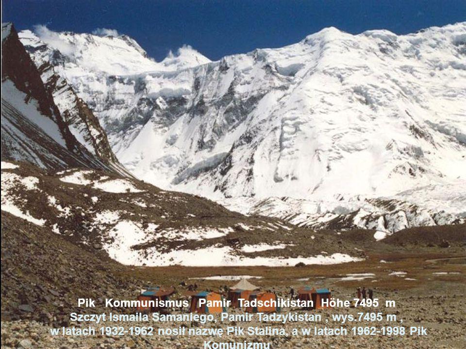 Pik Pobeda Tianshan Kirgisistan Höhe 7439 m Szczyt Zwycięstwa (kirg. Dżengisz czokusu, ros. Pik Pobieda) Kirgistan. wys. 7439 m