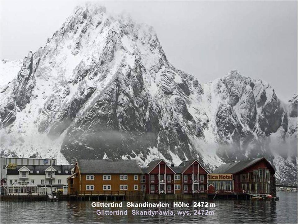 Glittertind Skandinavien Höhe 2472 m Glittertind Skandynawia, wys. 2472m