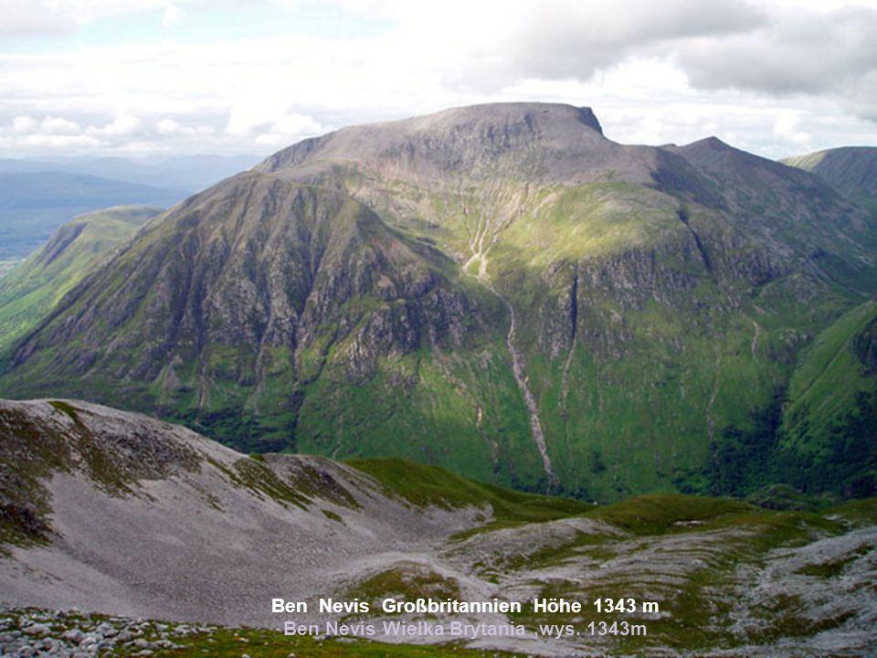 Ben Nevis Großbritannien Höhe 1343 m Ben Nevis Wielka Brytania,wys. 1343m