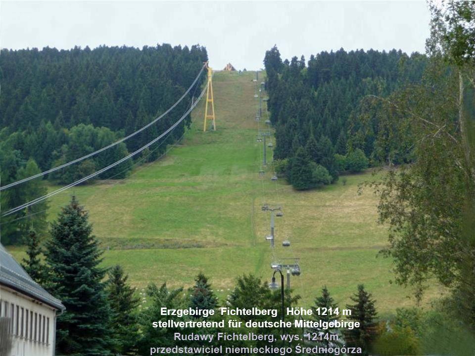 Erzgebirge Fichtelberg Höhe 1214 m stellvertretend für deutsche Mittelgebirge Rudawy Fichtelberg, wys.