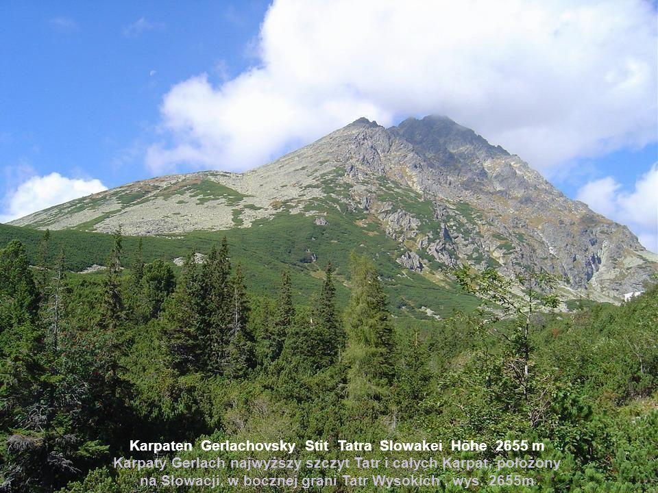 Karpaten Gerlachovsky Stit Tatra Slowakei Höhe 2655 m Karpaty Gerlach najwyższy szczyt Tatr i całych Karpat, położony na Słowacji, w bocznej grani Tatr Wysokich, wys.