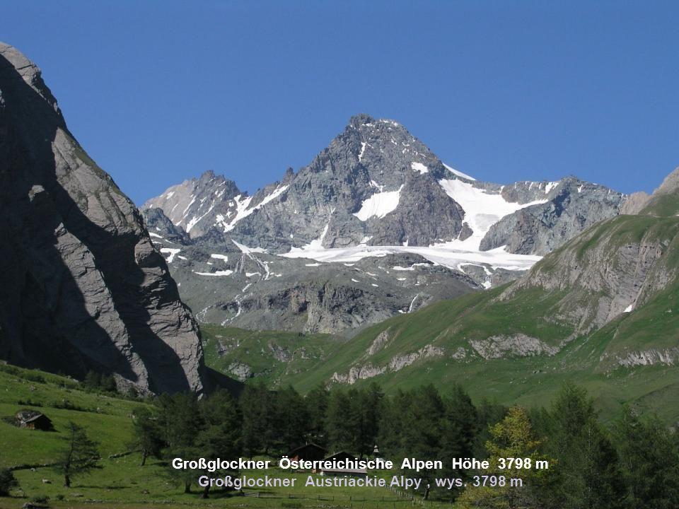 Großglockner Österreichische Alpen Höhe 3798 m Großglockner Austriackie Alpy, wys. 3798 m