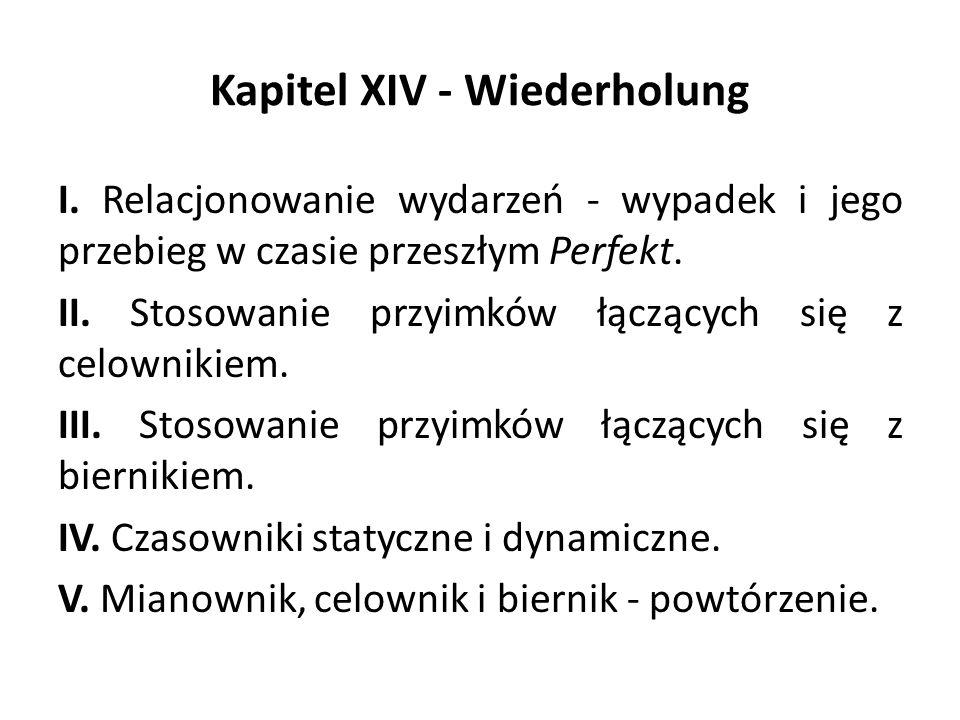 Kapitel XIV - Wiederholung I.