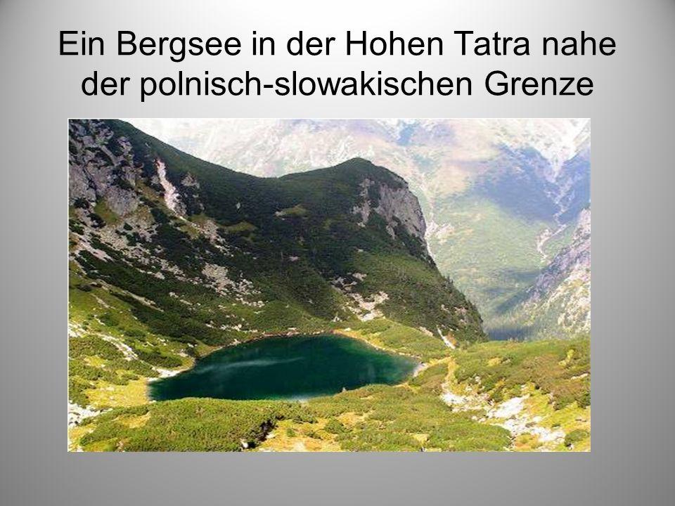Ein Bergsee in der Hohen Tatra nahe der polnisch-slowakischen Grenze