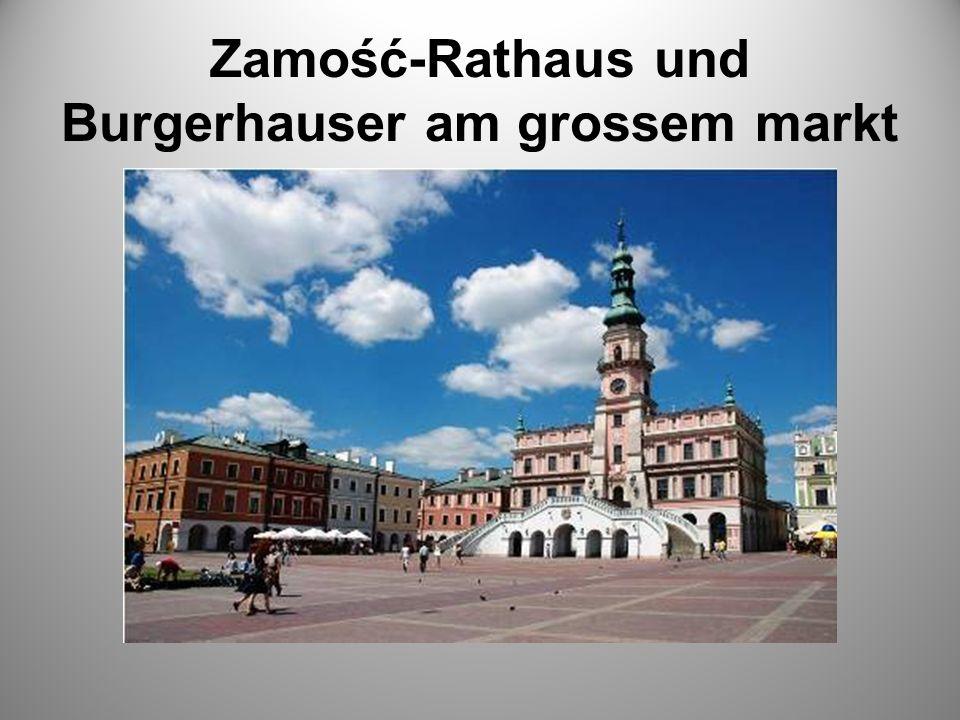 Zamość-Rathaus und Burgerhauser am grossem markt