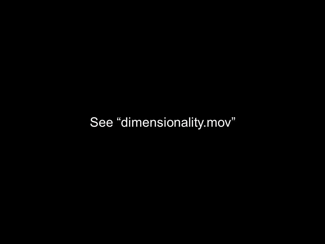 See dimensionality.mov