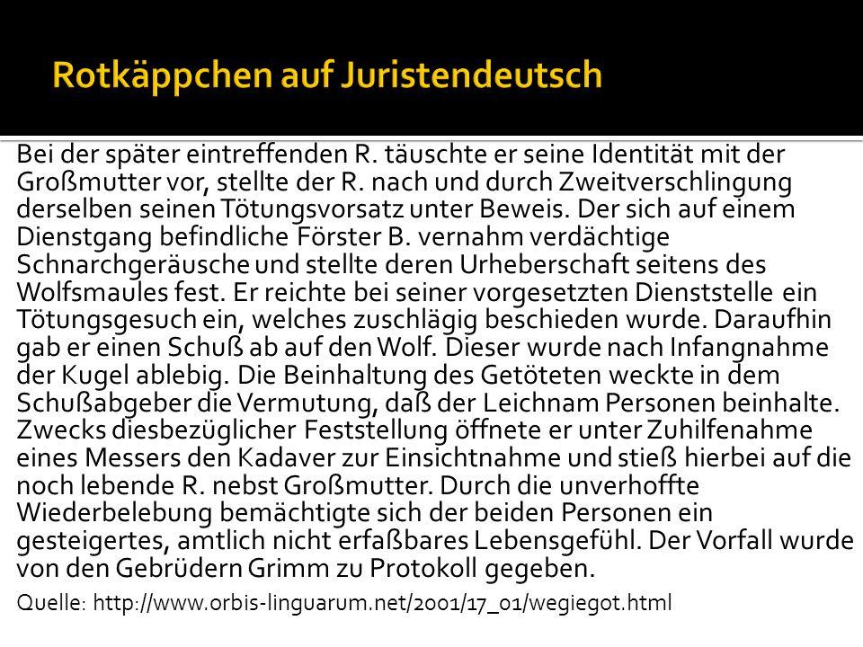 Charakteristika der Rechtssprache nach Jacewicz (2010:36ff): Genauigkeit / Präzision (im Gegensatz etwa zu Gemeinsprache): Leihe Darlehen Wenn Marie ihrer Nachbarin drei Eier leiht, ist das juristisches gesehen kein Leihen.