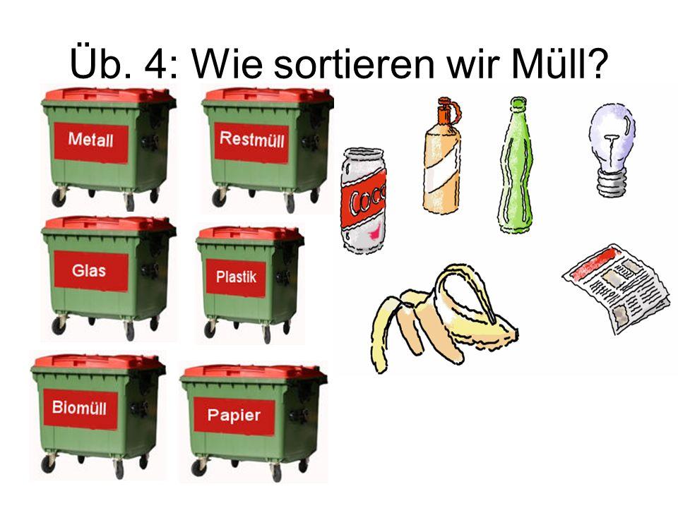 Üb. 4: Wie sortieren wir Müll?