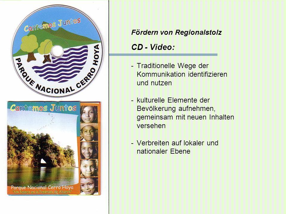 Fördern von Regionalstolz CD - Video: -Traditionelle Wege der Kommunikation identifizieren und nutzen -kulturelle Elemente der Bevölkerung aufnehmen,