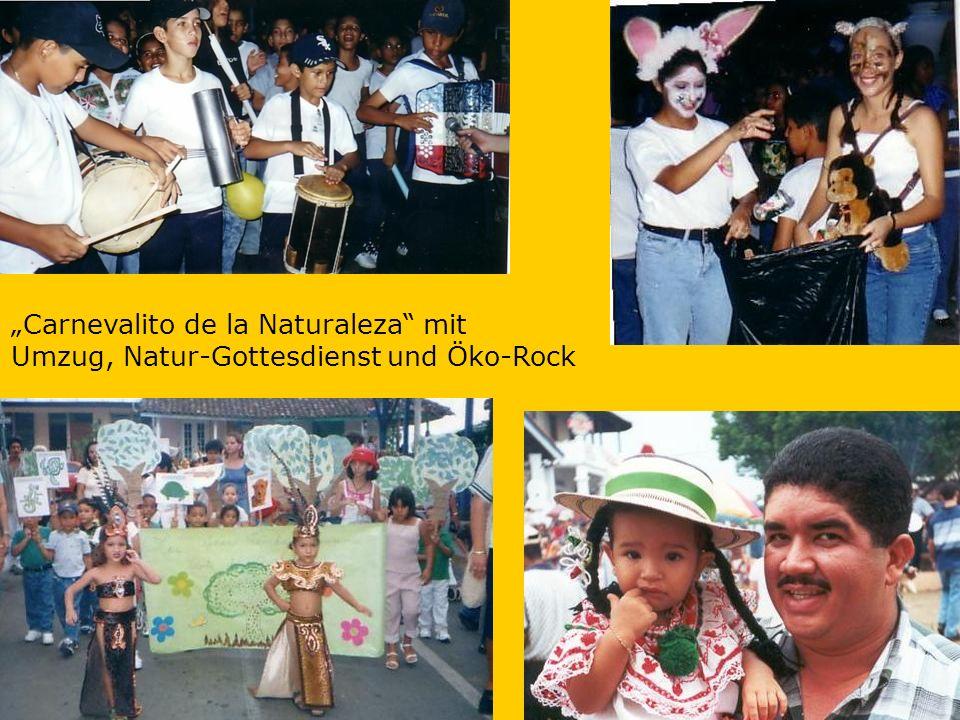 Carnevalito de la Naturaleza mit Umzug, Natur-Gottesdienst und Öko-Rock