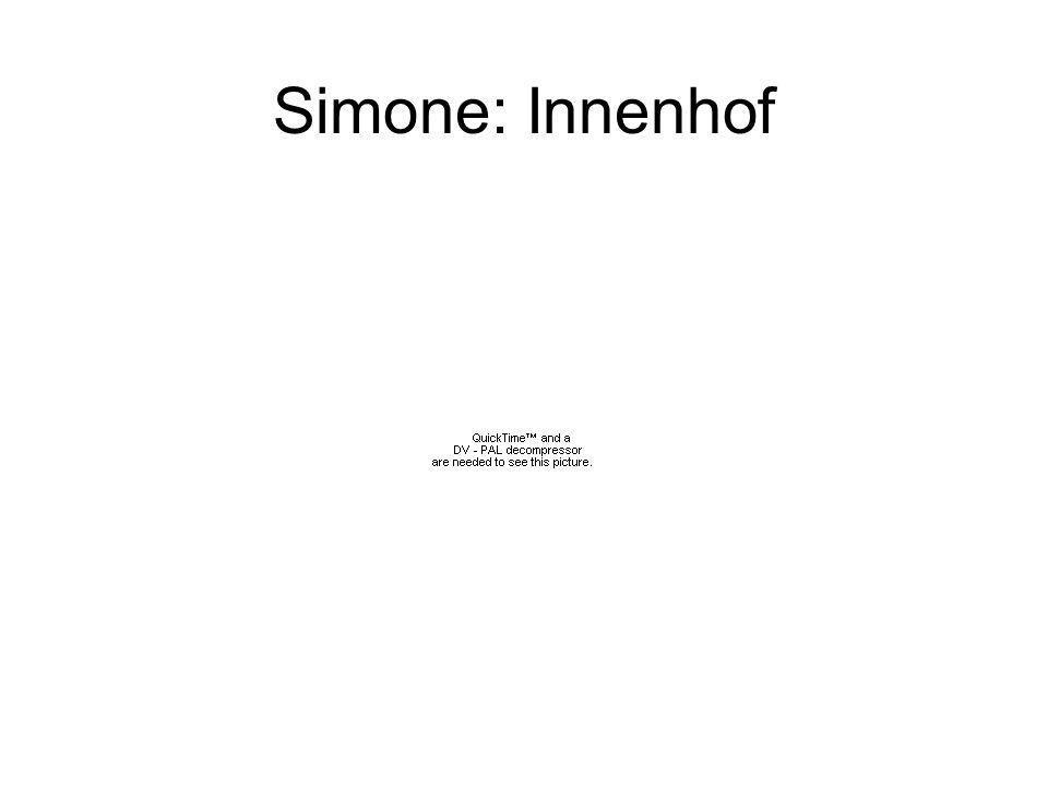 Simone: Innenhof