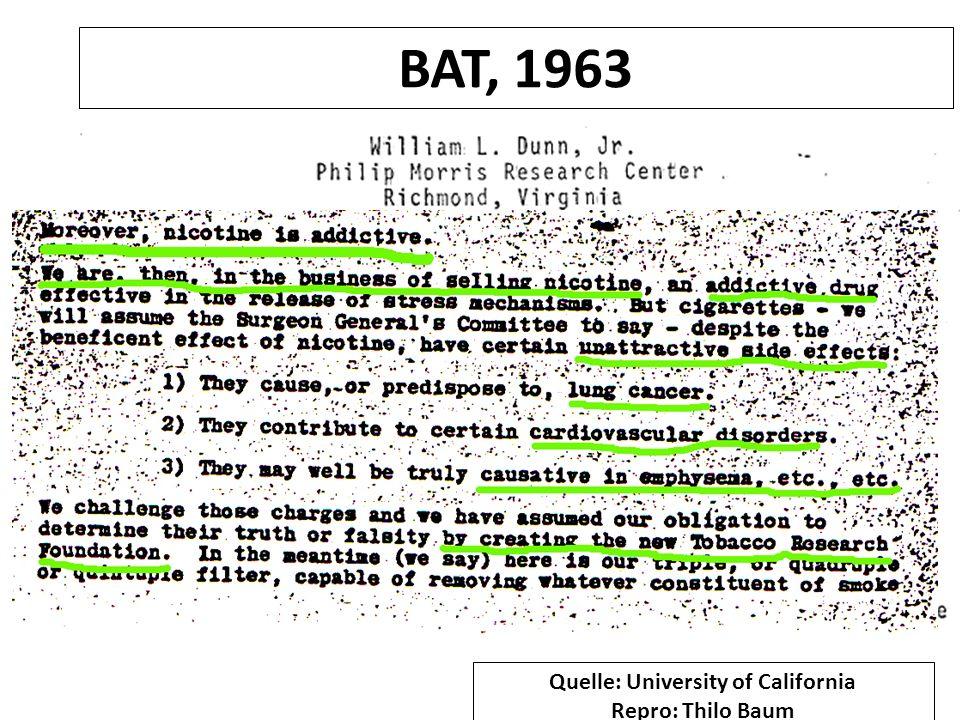 Philip Morris, 1972: Quelle: University of California Repro: Thilo Baum
