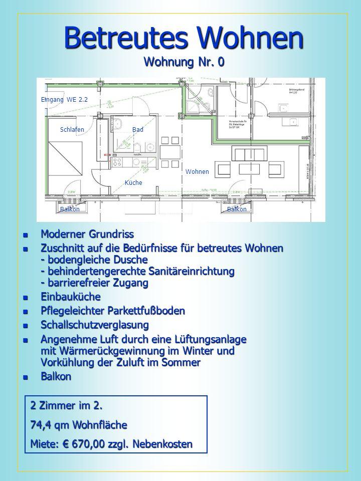 Betreutes Wohnen Wohnung Nr. 0 Moderner Grundriss Moderner Grundriss Zuschnitt auf die Bedürfnisse für betreutes Wohnen - bodengleiche Dusche - behind