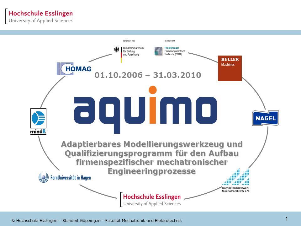 1 © Hochschule Esslingen – Standort Göppingen – Fakultät Mechatronik und Elektrotechnik Adaptierbares Modellierungswerkzeug und Qualifizierungsprogram