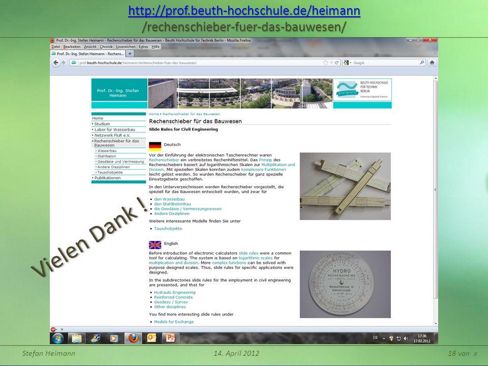 Stefan Heimann14. April 201218 von x http://prof.beuth-hochschule.de/heimann http://prof.beuth-hochschule.de/heimann /rechenschieber-fuer-das-bauwesen
