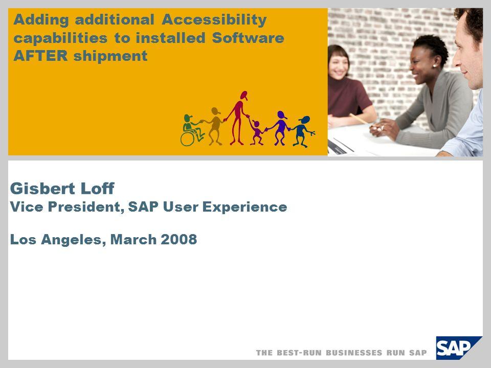 © SAP 2008 / Loff CSUN 12 Closing the gap – What IS the gap.