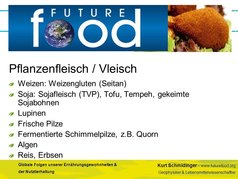 Kurt Schmidinger – www.futurefood.org Geophysiker & Lebensmittelwissenschaftler Globale Folgen unserer Ernährungsgewohnheiten & der Nutztierhaltung We