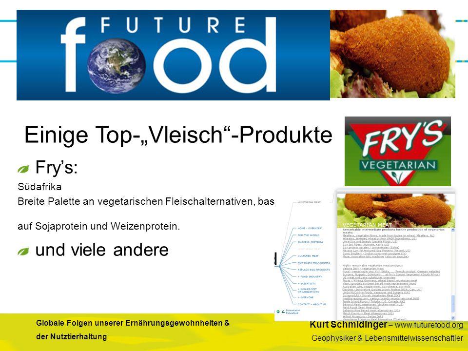 Kurt Schmidinger – www.futurefood.org Geophysiker & Lebensmittelwissenschaftler Globale Folgen unserer Ernährungsgewohnheiten & der Nutztierhaltung Fr