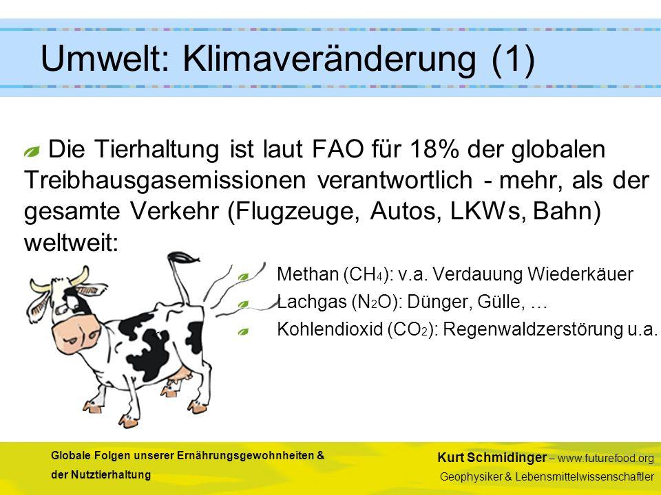 Kurt Schmidinger – www.futurefood.org Geophysiker & Lebensmittelwissenschaftler Globale Folgen unserer Ernährungsgewohnheiten & der Nutztierhaltung <