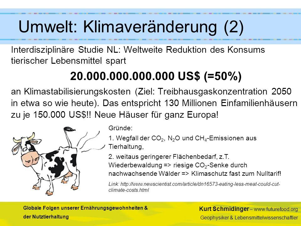 Kurt Schmidinger – www.futurefood.org Geophysiker & Lebensmittelwissenschaftler Globale Folgen unserer Ernährungsgewohnheiten & der Nutztierhaltung In