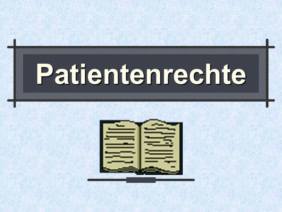 3 Übersicht Patientenrechte/Heimbewohnerrechte Patientencharta - Selbstbestimmung - Kinder/Jugendliche - Patientenverfügung - Freiheitsbeschränkungen Patientenanwaltschaften Patienten-Entschädigungsfonds