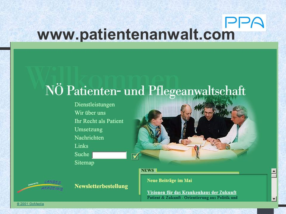 5 Patientenrechte Rechte in vielen Gesetzen enthalten: - KAG, ÄG, ASVG, GuKG, MTD...