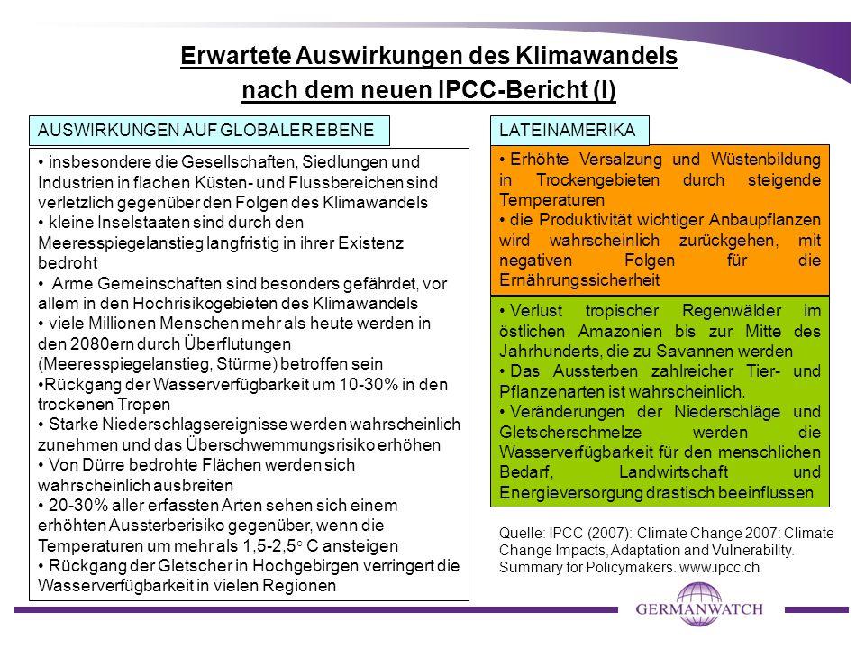 Handlungsmöglichkeiten im Kontext von MDGs und Klimawandel 1.