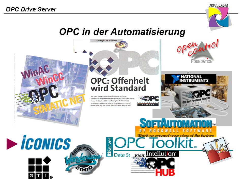 OPC Drive Server OPC in der Automatisierung