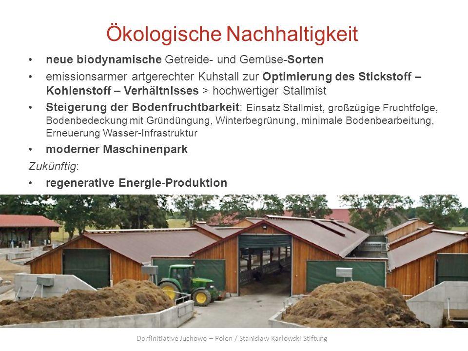 Ökologische Nachhaltigkeit neue biodynamische Getreide- und Gemüse-Sorten emissionsarmer artgerechter Kuhstall zur Optimierung des Stickstoff – Kohlen