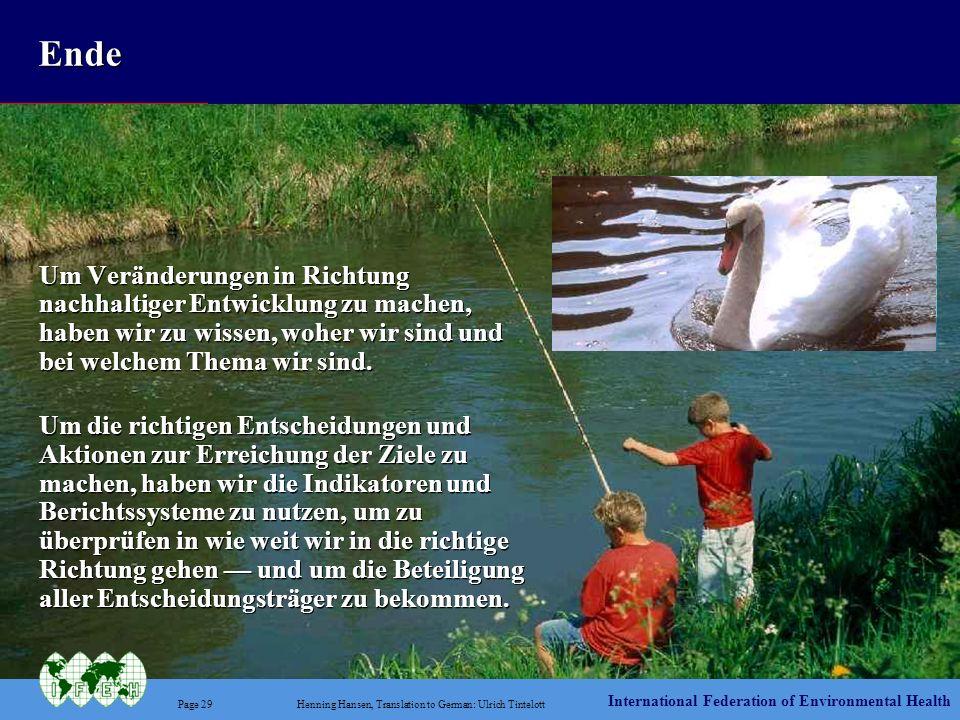 International Federation of Environmental Health Page 29Henning Hansen, Translation to German: Ulrich Tintelott Ende Um Veränderungen in Richtung nach