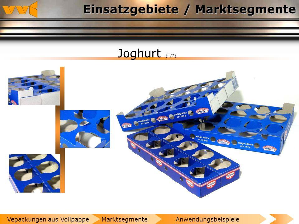 Einsatzgebiete / Marktsegmente Molkereiprodukte (1/1) AnwendungsbeispieleMarktsegmenteVepackungen aus Vollpappe