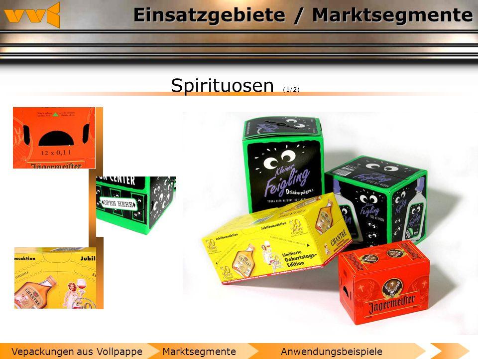 Einsatzgebiete / Marktsegmente Bier und Wein (4/4) AnwendungsbeispieleMarktsegmenteVepackungen aus Vollpappe