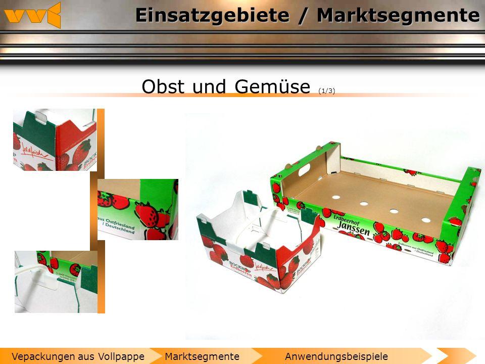 Einsatzgebiete / Marktsegmente Spirituosen (2/2) AnwendungsbeispieleMarktsegmenteVepackungen aus Vollpappe