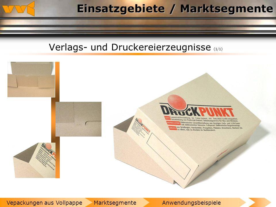 Einsatzgebiete / Marktsegmente Waschmittel (1/1) AnwendungsbeispieleMarktsegmenteVepackungen aus Vollpappe