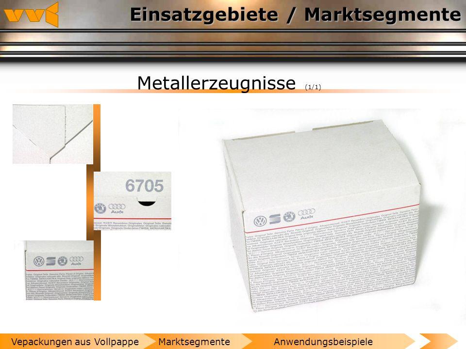 Einsatzgebiete / Marktsegmente Verlags- und Druckereierzeugnisse (1/1) AnwendungsbeispieleMarktsegmenteVepackungen aus Vollpappe