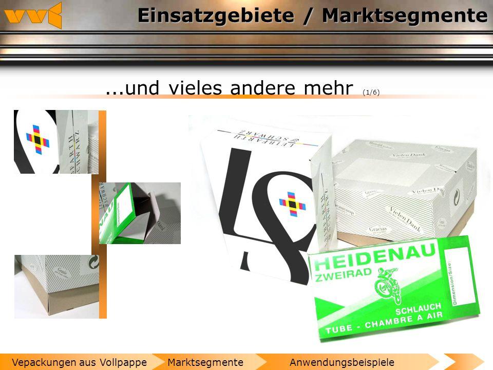 Einsatzgebiete / Marktsegmente Metallerzeugnisse (1/1) AnwendungsbeispieleMarktsegmenteVepackungen aus Vollpappe
