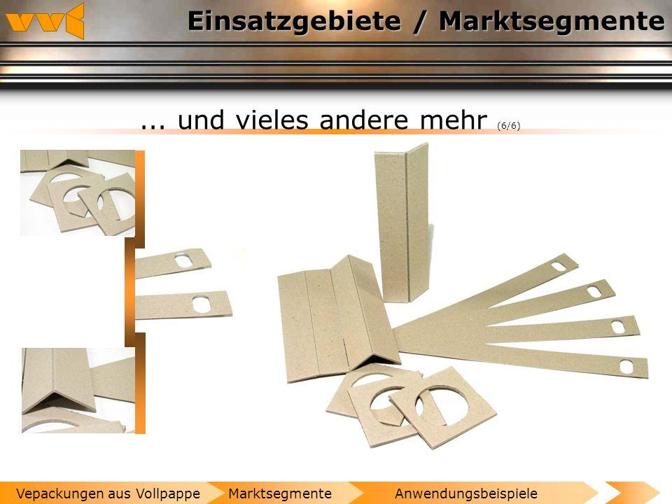 Einsatzgebiete / Marktsegmente...und vieles andere mehr (5/6) AnwendungsbeispieleMarktsegmenteVepackungen aus Vollpappe