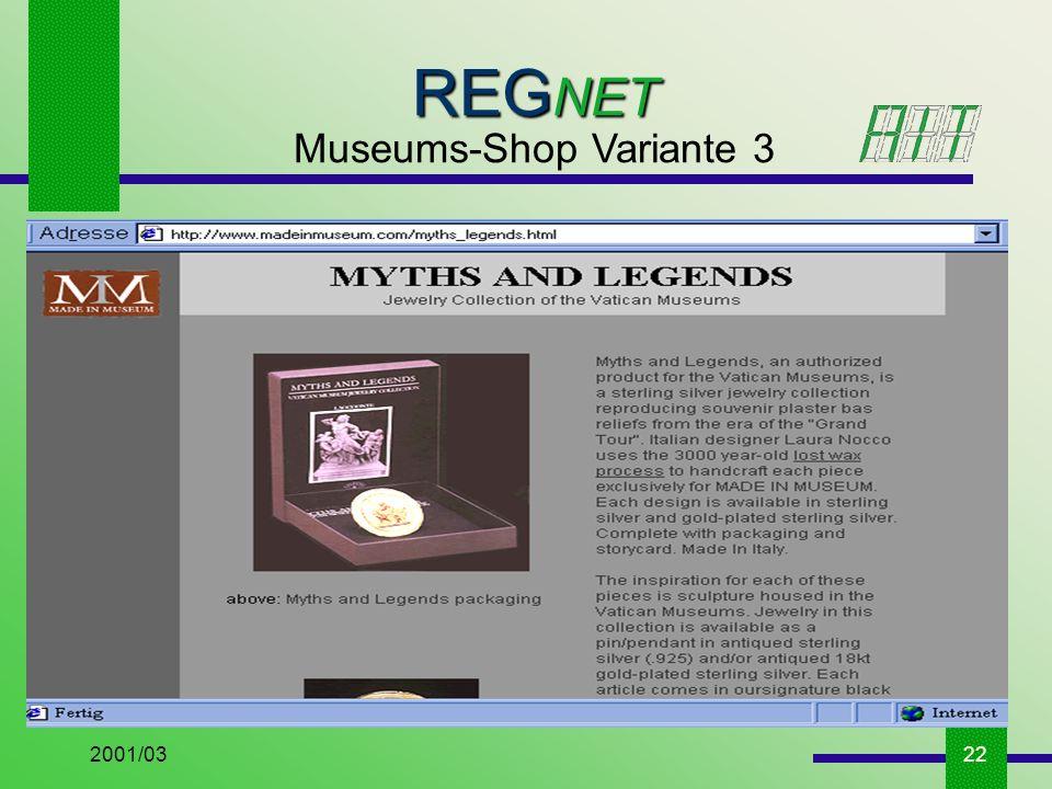 2001/0322 REG NET Museums-Shop Variante 3
