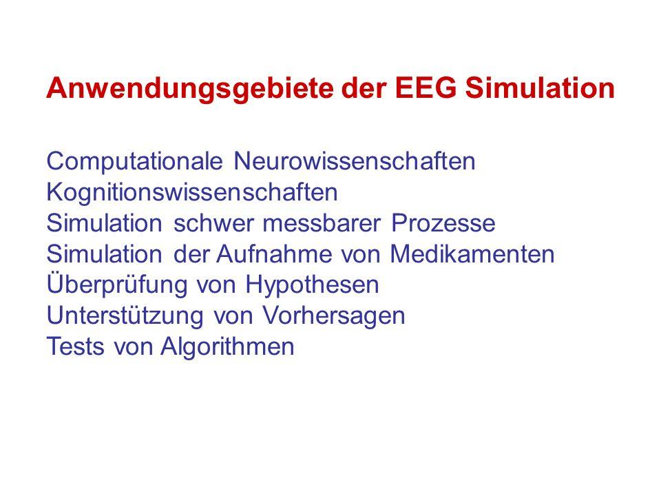 High-Level Simulationssprachen für EEG und Neurale Netze - einfaches Hinzufügen und Löschen von funktionalen Elementen - Bibliotheken für: Ionenkanal, Neuron, Zellverband, Synapse usw.