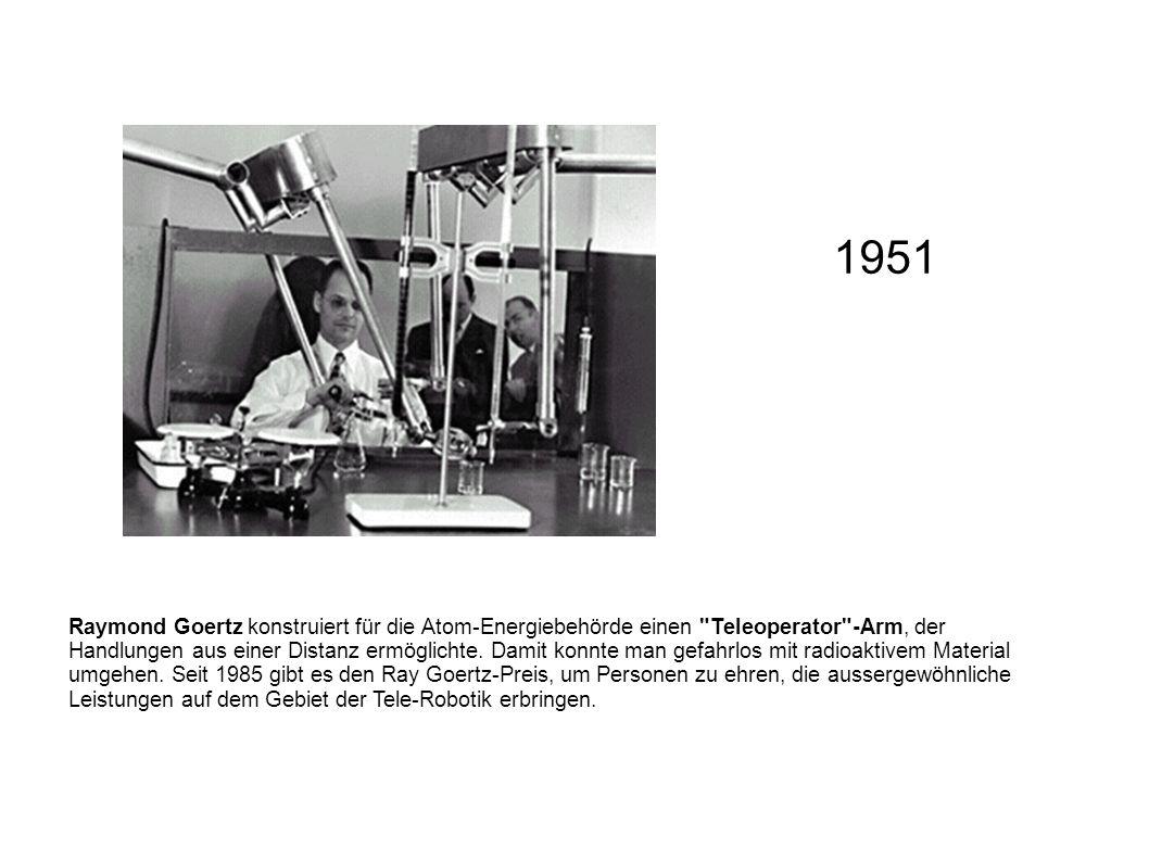 Raymond Goertz konstruiert für die Atom-Energiebehörde einen