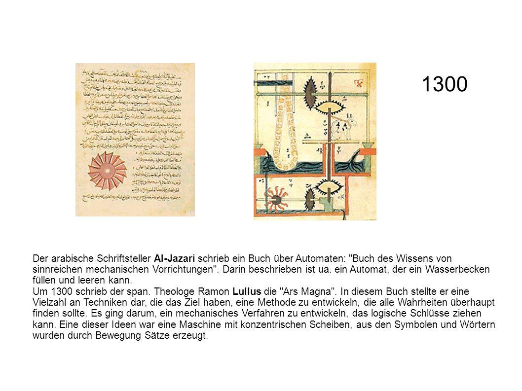 Der arabische Schriftsteller Al-Jazari schrieb ein Buch über Automaten: