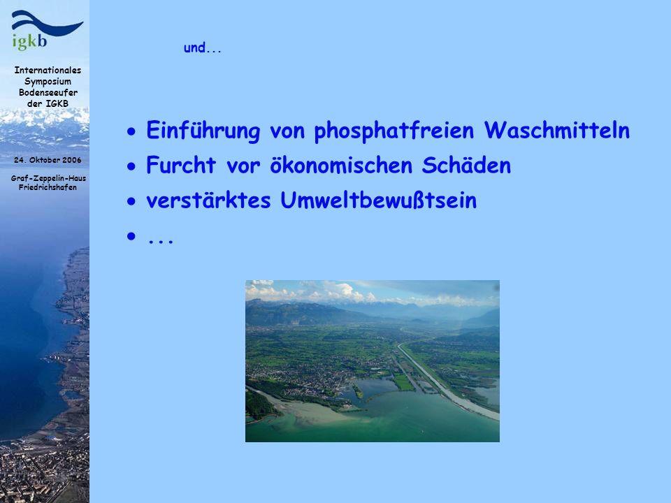Internationales Symposium Bodenseeufer der IGKB 24. Oktober 2006 Graf-Zeppelin-Haus Friedrichshafen und... Einführung von phosphatfreien Waschmitteln
