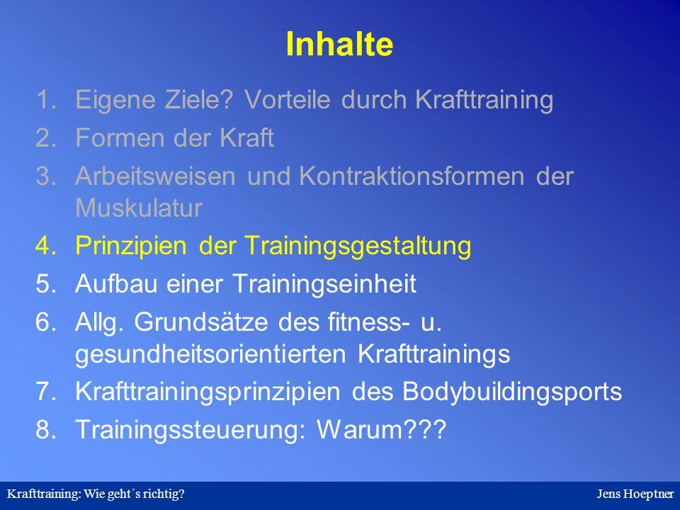 Krafttraining: Wie geht´s richtig.Jens Hoeptner 4.
