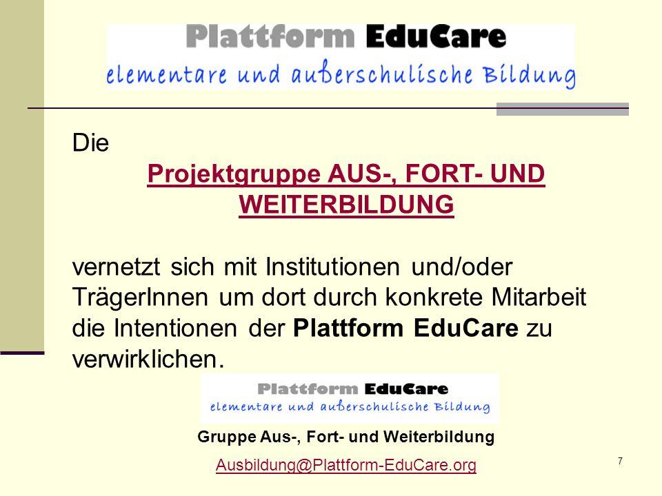 8 Auf diese Weise können maßgebliche Schritte in der Zusammenarbeit mit dem Projektzentrum für Vergleichende Bildungsforschung Österreich ZVB und den Pädagogischen Hochschulen gesetzt werden.