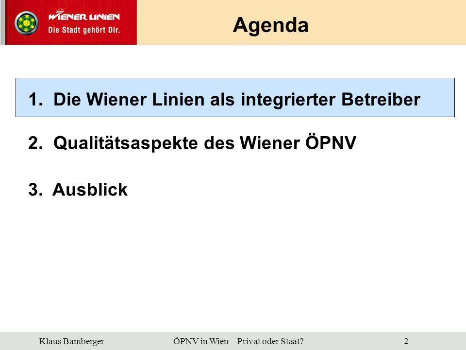 Klaus Bamberger ÖPNV in Wien – Privat oder Staat.