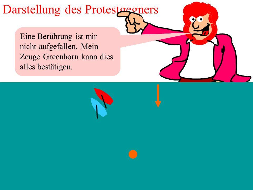 19 2012 Uli Finckh, Breitbrunn Ich erzähl mal, wie es war. Darstellung des Protestierenden Es war an der ersten Luvbahnmarke. Ich fuhr mit Wind von St