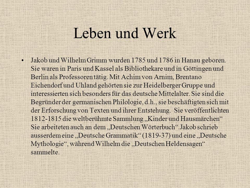 Jakob und Wilhelm Grimm