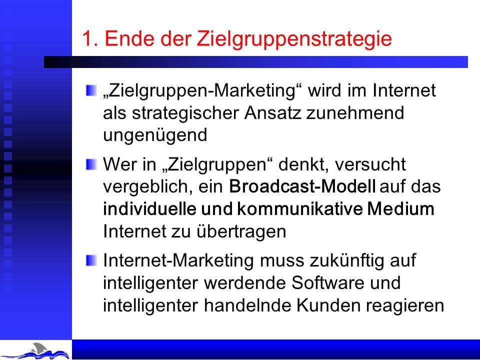 Vom W3 zu Web 3.0: Web 3.0 Kunde Firma Kunde Produkte Zielgruppen Marketing- Materialien Das Ende der Zielgruppe Das Ende der Produkthoheit Das Ende d