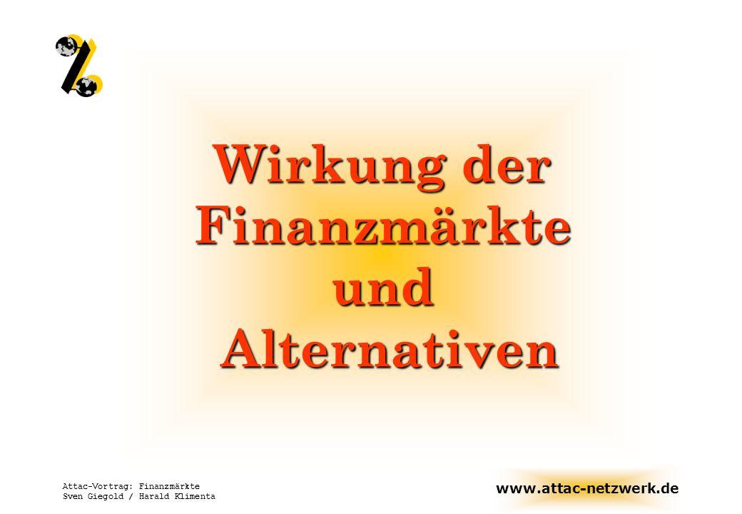 www.attac-netzwerk.de Attac-Vortrag: Finanzmärkte Sven Giegold / Harald Klimenta Wirkung deregulierter Finanzmärkte auf den Menschen Flexibilitätsmythos - Positiv besetztes Wort...